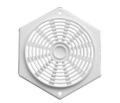 White Hexagonal Plastic Vent
