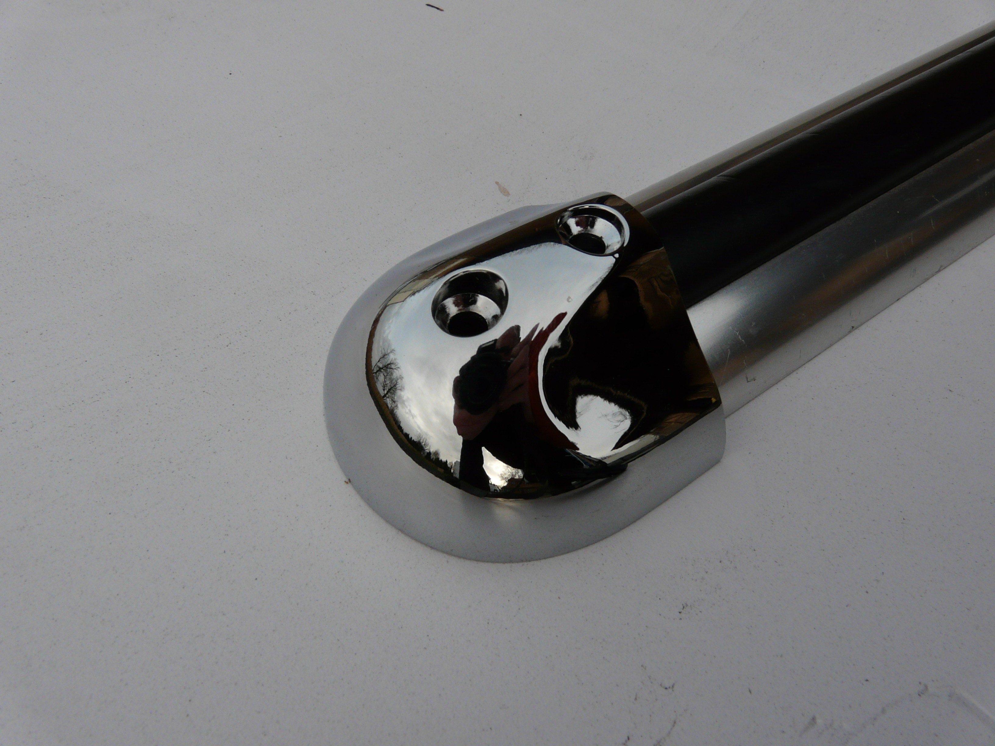 Plastic End Cap - Mirror Finish (Rub Rail)