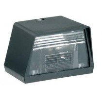 Small Black Bulbed Number Plate Light