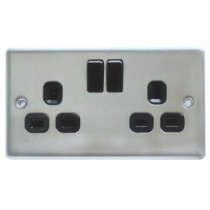 Double Socket - Stainless Steel