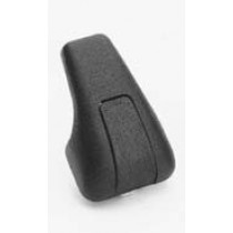Single Black Plastic Coat Hook