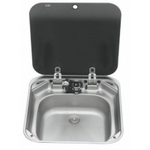 Sink with Glass Lid - St/St